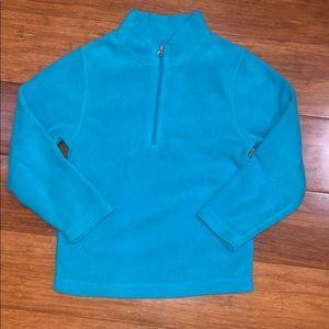 EUC Obermeyer kids fleece 1/4 zip sweater medium